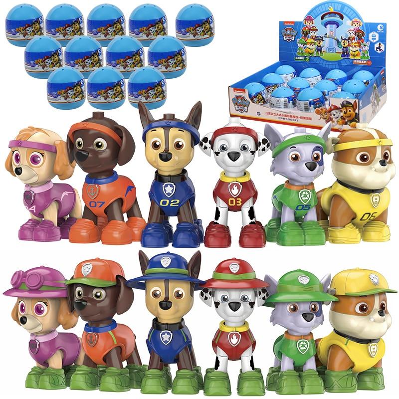 2020 New Paw Patrol Bilnd Box Blocks Chase Marshall Rocky Rubble Zuma Skye Tracker Rescue Birthday Christmas Gift Children Toy