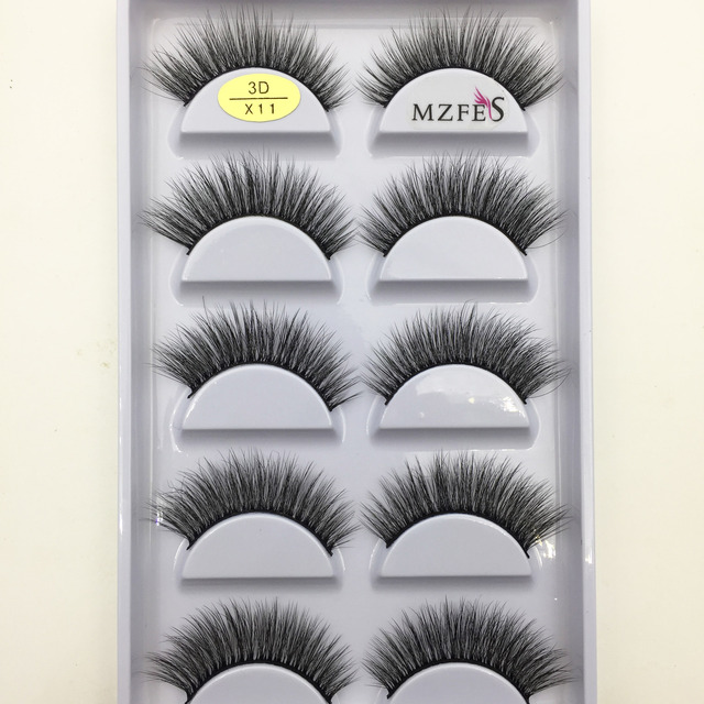 33 Style 10/50/100 Boxes 5 Pairs Natural 3D Mink False Eyelashes Makeup Fake Eye Lashes Faux Cils Make Up Beauty Tools Wholesale 5