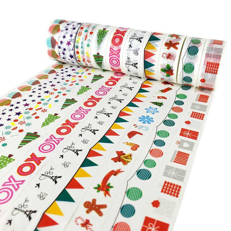 1 Uds. Cinta Washi multicolor para álbum de recortes, cintas adhesivas decorativas, papel, papelería japonesa, StOffice, cintas adhesivas