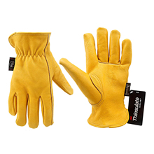 Work Gloves Cowhide Leather Men Working Welding Safety Protective Garden Sports MOTO Driver Wear-resisting Gloves