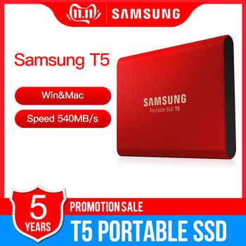 """サムスンポータブル SSD T5 500 ギガバイト 1 テラバイト外部ソリッドステート Hd ハードドライブ 1.8 \""""USB 3.1 Gen2 (10 Gbps) ノートパソコンのデスクトップ - SALE ITEM パソコン & オフィス"""