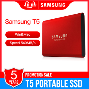 "Image 1 - סמסונג נייד SSD T5 500GB 1TB חיצוני מצב מוצק HD כונן קשיח 1.8 ""USB 3.1 Gen2 (10Gbps) עבור מחשב נייד שולחן עבודה"