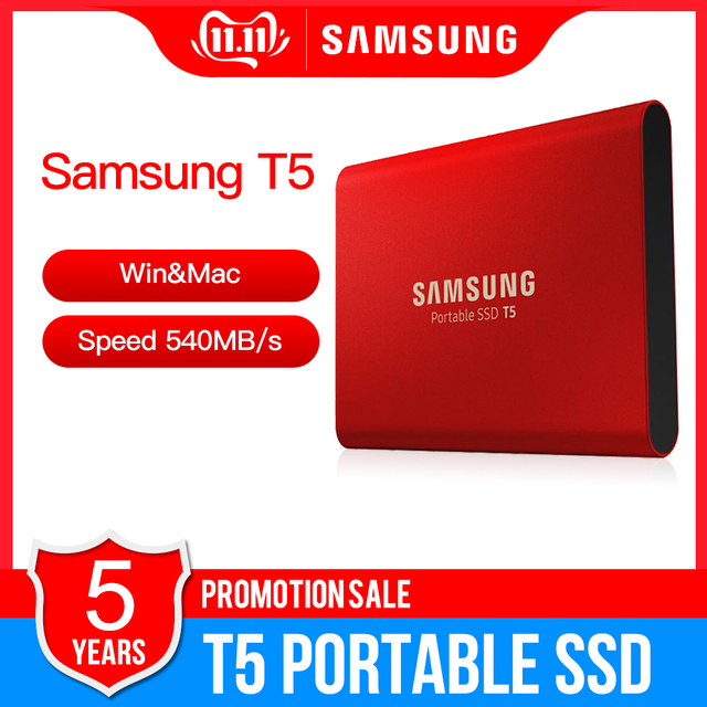 "Samsung Draagbare Ssd T5 500 Gb 1 Tb Externe Solid State Hd Harde Schijf 1.8 ""Usb 3.1 Gen2 (10Gbps) voor Laptop Desktop"