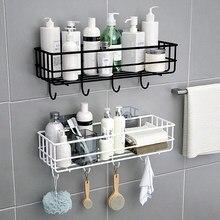 Wand Montiert Bad Schwimmende Regal Shampoo Halter Haar Trockner Stand Dusche Storage Rack WC Zubehör Klebrige Küche Veranstalter