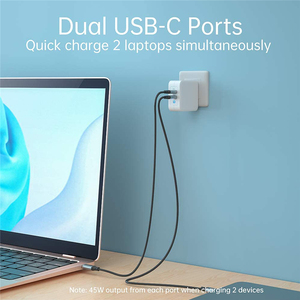 Image 3 - 100W GaN Dual USB Type C Charger for iPad Pro Wall Charger for iPhone 11 Pro Phone for Samsung/Huawei/ASUS/Lenovo/DELL Tablet