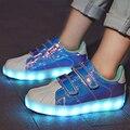 2018 Синяя светодиодная светящаяся обувь для мальчиков и девочек  модный светильник  повседневная детская обувь  7 цветов  USB зарядка  новые св...