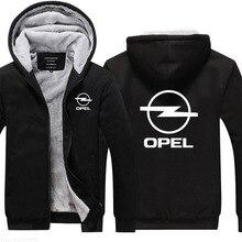 Зимняя мужская новая коллекция Повседневная Толстовка Opel мужские толстовки утолщенная верхняя одежда на молнии зимние мужские теплые куртки
