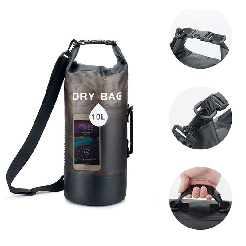 Newest 10L/20L Transparent Swimming Dry Bag Outdoor Travel Waterproof Dry Sack Backpack Men Women Seaside Beach Use Shoulder Bag 3