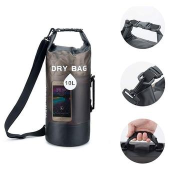 Newest 10L/20L Transparent Swimming Dry Bag Outdoor Travel Waterproof Dry Sack Backpack Men Women Seaside Beach Use Shoulder Bag 8
