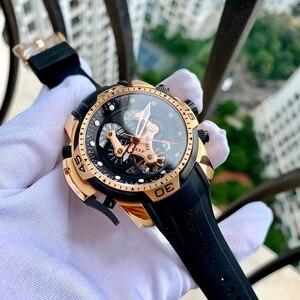 Image 1 - Riff Tiger/RT Designer Uhren für Männer Große Zifferblatt Komplizierte Uhr mit Perpetual Kalender Rubber Strap Uhr RGA3503