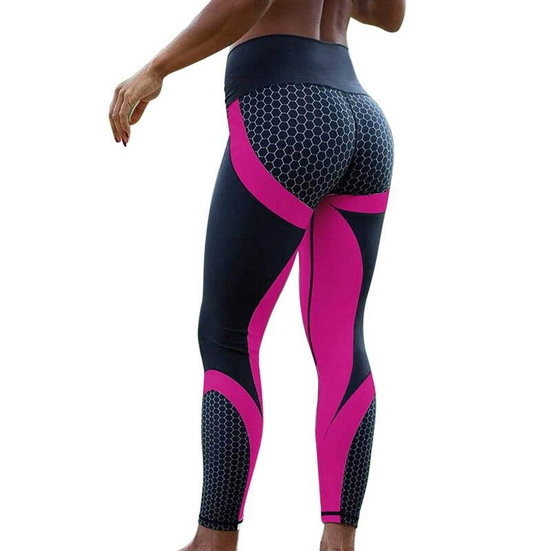 8colors Hot Honeycomb Printed Yoga Pants Women Push Up Sport Leggings Professional Running Leggins Sport Fitness Tights Trousers 11