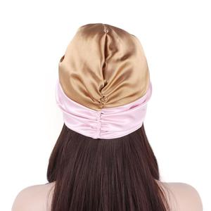 Image 5 - נשים סאטן כובע מצנפת שיער טיפול בארה ליידי טורבן כובע מוסלמי שיער אובדן כובע שינה לילה כובע רך סרטן כימותרפיה כובע Arb בימס