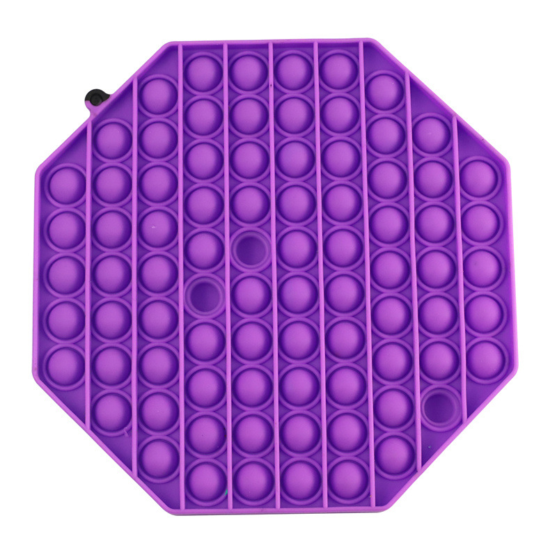 Sensory Toy Fidget-Toys Bubble Squeeze Square Silicone Stress Reliever Dropship Big-Size img4