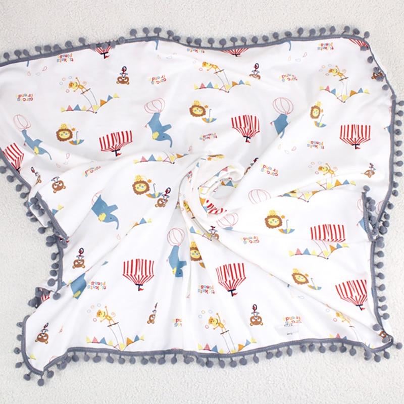 Newborn Blanket Bedding Baby Wrap Swaddling Kids Bath Towel Cotton Stroller Blanket Infant Summer Printing YBC020