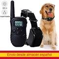 Перезаряжаемый ошейник для дрессировки собак с электрошоком, водонепроницаемый тренировочный ошейник с дистанционным управлением, устрой...
