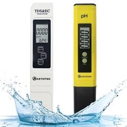 Medidor de ph tds ec medidor digital lcd ferramentas de teste de água caneta filtro de pureza hidropônico portátil ppm detector de qualidade de água