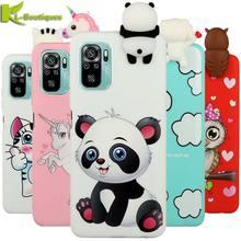Para funda xiaomi redmi nota 10 pro caso 3d panda macio silicone caso na para xiomi xiaomi redmi note10 pro 10pro max telefone capa