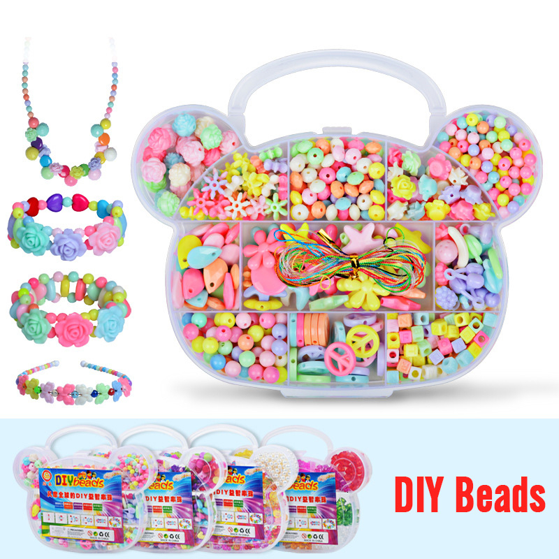 11 Grid Girl Jewelry Making Toys Educational Toys Children GiftHandmade Beaded Toy With Accessory Set Children Creative DIY