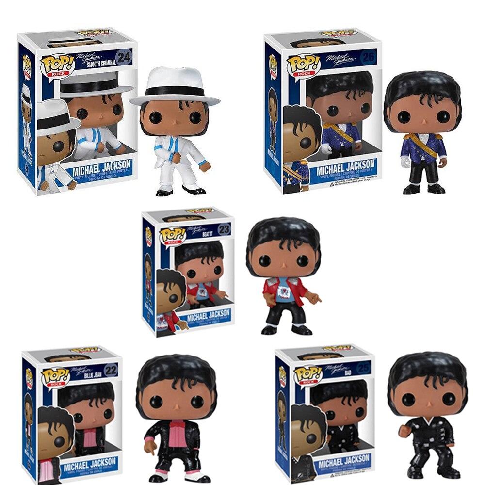 FUNKO POP Michael Jackson BEAT IT BILLIE JEAN BAD Vinyl Action Figures Collection Model Toys For Children Christmas Gift