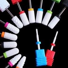 Drill-Bits Cuticle Pedicur Milling-Cutter Electric-Nail-Drill-Machine Clean-Burr Ceramic