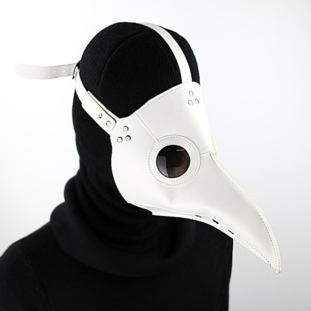 Fashion Halloween PU Mask New Accessories Long Beak Plague Bird Doctor Steampunk Halloween Party Mask Costume Cosplay Prop