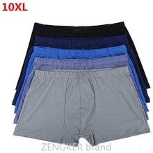 ขนาดใหญ่ขนาดชายผ้าฝ้ายUnderwearsหลวมนักมวยขนาดใหญ่กางเกง10XL 9XL 8XL7XLเข็มขัดหลาขนาดใหญ่ผู้ชายBoxer Plusขนาด