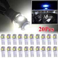 Bombillas LED T10 para matrícula de coche, luces interiores para automóvil, 6000K, blanco, 168, 2825, 194, W5W, lámpara de señal de 50.000 horas de larga duración, 20 Uds.