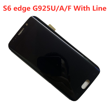 ORIGINAL  AMOLED LCD  With Line for SAMSUNG Galaxy s6 edge LCD  G925U G925F Touch Screen Digitizer Display with line original amoled display for samsung galaxy note9 lcd n960 n960f display touch screen replacement parts screen