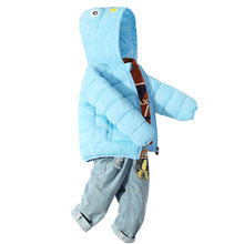 2019 Girls Winter Coats Baby Boy Girl Cute Frog Down Cotton Jacket Hooded Warm Outerwear Coat New Fashion Children Parkas children girls baby cute ears quilted cotton baby clothes winter girl coat clothing fashion hot sale warm boy jacket