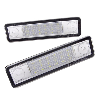 цена на 1 Pair LED Number License Plate Light For Opel Corsa Astra Vectra Corsa Omega Zafira Signum Car Tuning Accessories