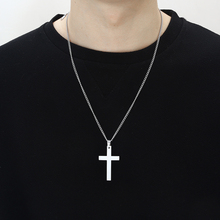 men long necklaces & cross pendants chain pendant fashion jewelry  gold stainless steel