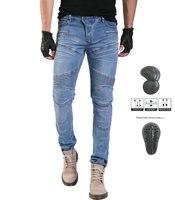 Motorcycle Riding Pants Motorbike Racing Jeans Armor Pantalons Biker Cycling Pants with 4 X CE Upgrade Knee Hip Protective Pads