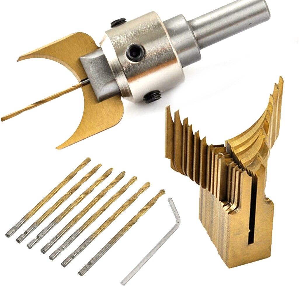 Carbide Ball Bits Blade Woodworking Milling Cutter Molding Tool Buddha Beads Router Bit Drills Set 649E