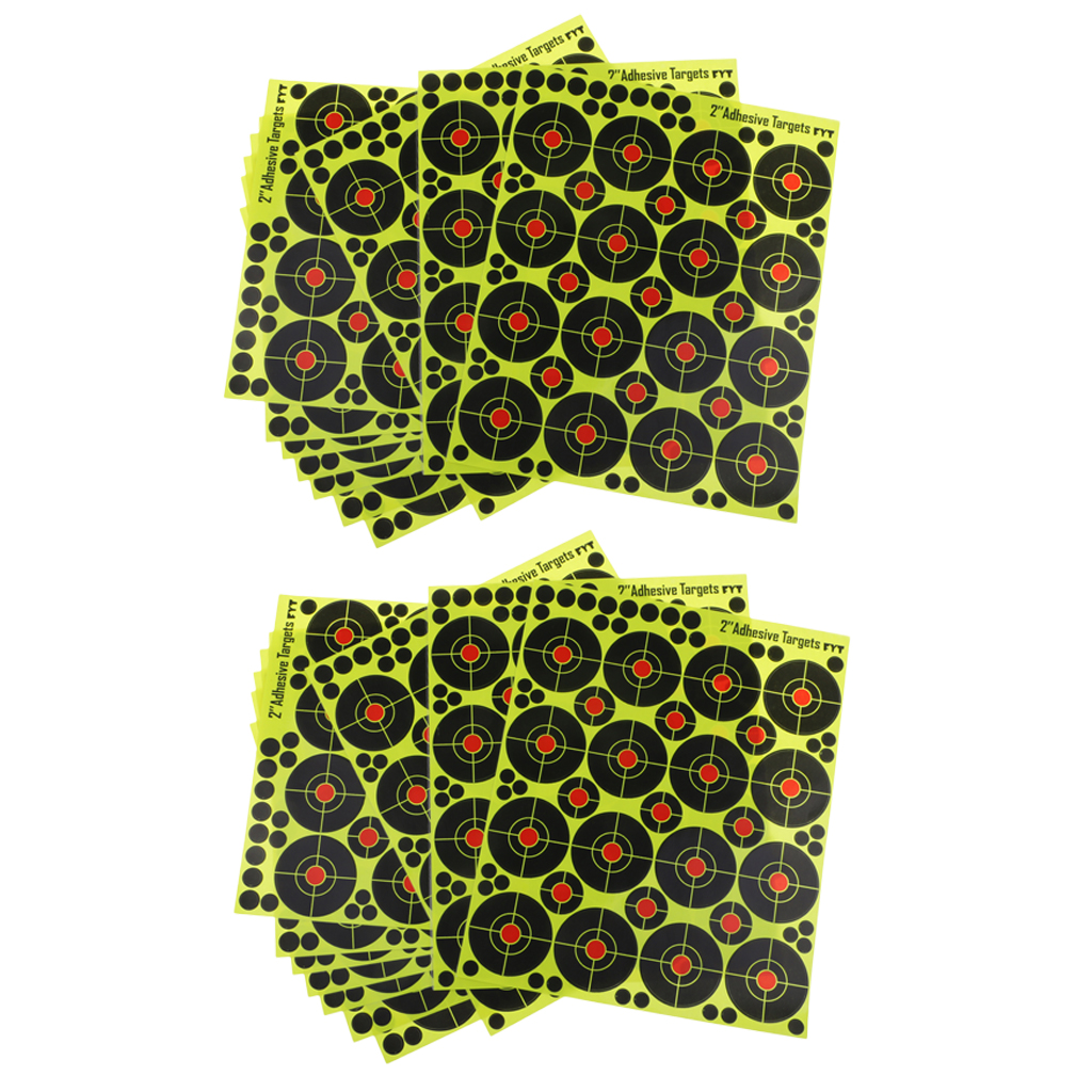 320 Pieces Shooting Targets Self Adhesive Paper Targets With Cover-up Patches, 2 Inches
