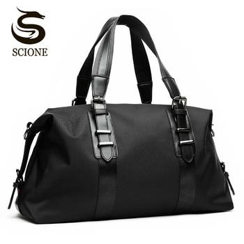 Hot Men's Travel Bags Large Capacity Men Luggage Handbags Oxford Duffle Fashion Folding Bag Z1 - discount item  40% OFF Travel Bags
