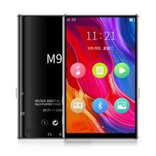 M9 Bluetooth5.0 MP4 Player 4.0 Polegada Tela Sensível Ao Toque Completa Gravação E-book Player de Vídeo De Música Rádio FM alto-Falante embutido