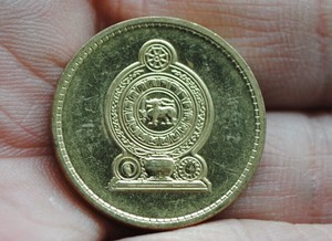 24 мм, 100% натуральная монета Sri Lank, оригинальная коллекция