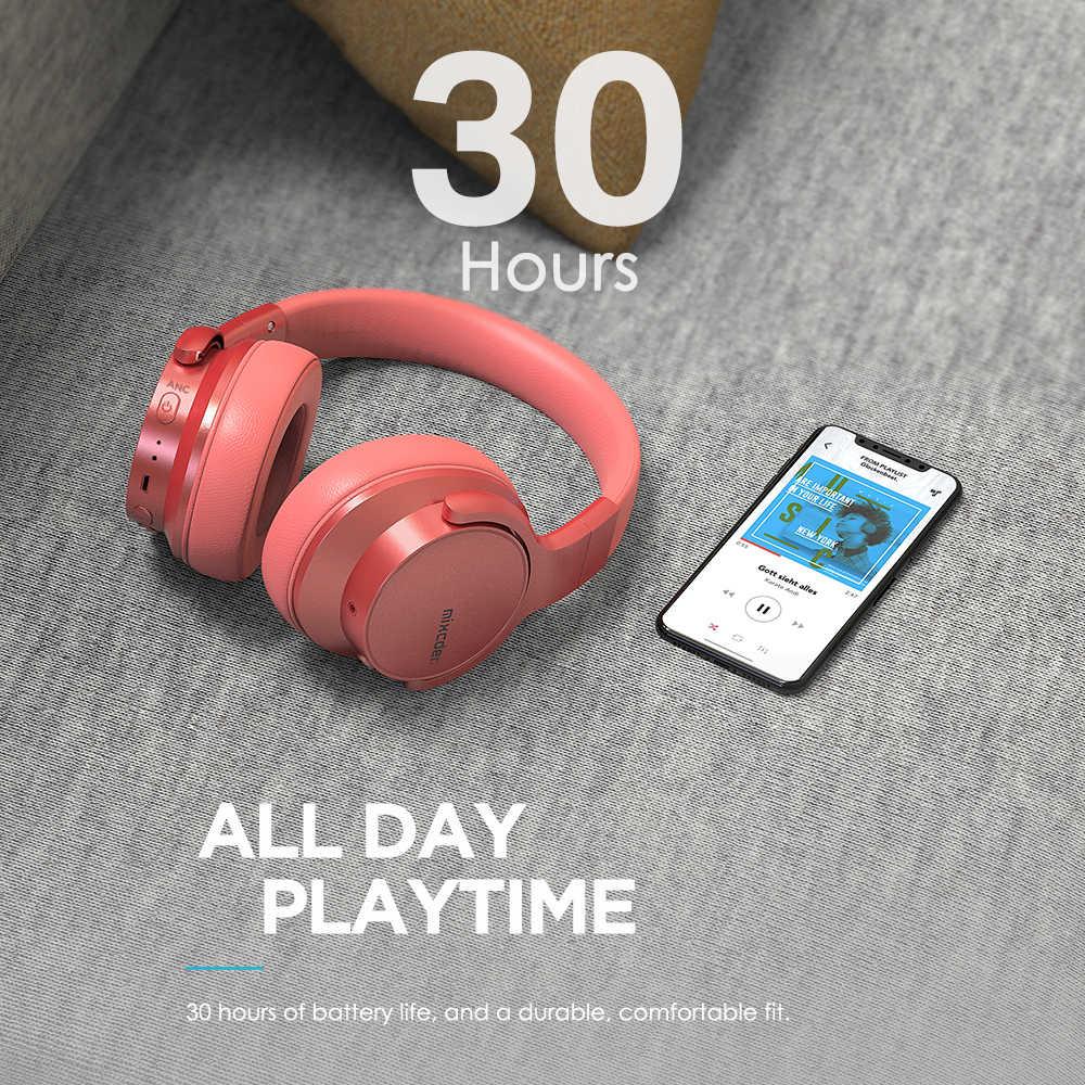 Mixcder E7 bezprzewodowy aktywne redukcji szumów słuchawek Bluetooth 5.0 szybkie ładowanie z mikrofonem ANC zestaw słuchawkowy Bluetooth