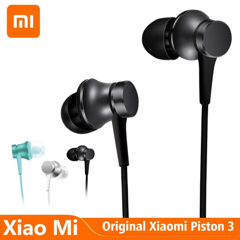 Original Xiaomi Piston Fresh Version Earphone 3.5mm Standard Plug Earphone HD Mic Wired Headset For Xiaomi Huawei Redmi Phones