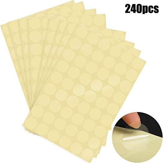 240 pces redondo pvc claro adesivo scrapbooking para embalagem e evenlope selo etiquetas adesivo obrigado você feito à mão papelaria adesivo