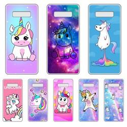 Funda transparente con dibujos de unicornio para SamSung Galaxy S, 7, 8, 9, 10, 11, 20 a, 20e, 50, 51, 70, 71 Plus, Edge Ultra