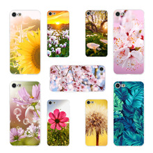 Phone Case Coque For iPhone xr 7 8 6 6S Plus x XS MAX 5 5S Aesthetic Beautiful Flowers Soft TPU Phone Cover For iPhone 8 7 Plus цена 2017