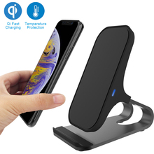 Qi Wireless Charger Fast Charging Stand 7.5W for iPhone XR/XS/Max/XS/X/8/8 Plus 10W Samsung Galaxy S10/S10e/S10+