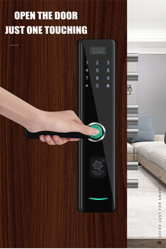 цена на smart door lock Fingerprint RFID Card and bracelet WiFi Electronic password Door Lock Home Security Digital lock Zinc alloy lock