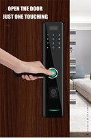 smart door lock Fingerprint RFID Card and bracelet WiFi Electronic password Door Lock Home Security Digital lock Zinc alloy lock