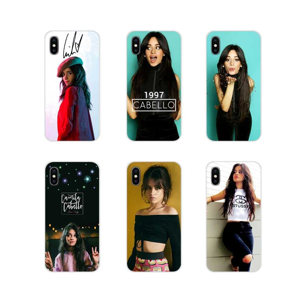 Para o iPhone Da Apple X XR XS 11Pro MAX 4S 5S 5C SE 6S 7 8 Plus ipod touch 5 6 transparente Caso TPU Macio Fifth Harmony Camila Cabello