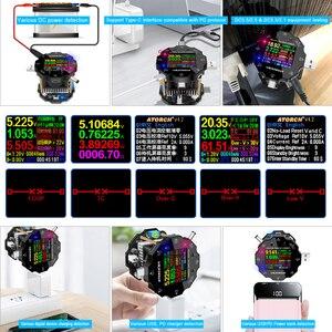 Image 5 - Тестер Аккумуляторов с цветным приложением, электронный измеритель емкости 18650, индикатор разряда, измерительный прибор для зарядки usb, DC 12 В, блок питания