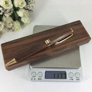 Image 5 - ACMECN الجوز قلم خشبي صندوق مكتب عمل الديكور الكتابة القرطاسية صديقة للبيئة الخشب الطبيعي الحرفية الكرة القلم قلم خشبي مجموعة أقلام الهدايا