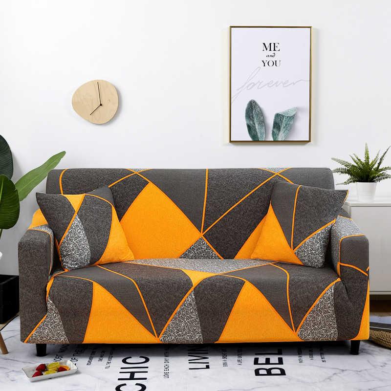 Funda de sofá elástica con diseño geométrico de sarga para sala de estar,  funda protectora para muebles, funda para sofá y sillón de poliéster  elástico| | - AliExpress