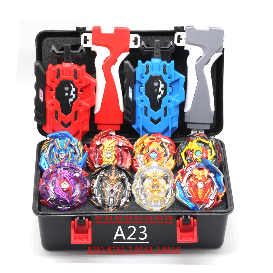 New Beyblade  Burst B-153GT Blade Toy Metal Funsion Bayblade Set Storage Box With Handle Launcher Plastic Box Toys For Children
